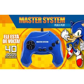 Video Game Master System 40 Jogos Plug & Play - Azul