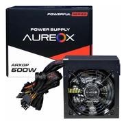 Fuente Para Pc Gamer Aureox 600w Arxgp Conector Pcie 8 Pin