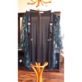 Oferta Cárdigan Turquesa Blusa Elegante Con Diseños Y Broche