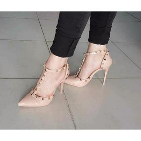 Stilettos Zapatos Con Pulsera Taco Aguja Importados