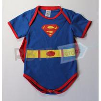 Body Infantil Super Homem Com Capa