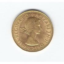 Moeda 1 Libra Ouro .917 (7,98g)rainha Elizabeth Ii 1959 #12