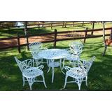 Conjunto Primavera/4 Cadeiras +mesa Para Jardim