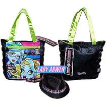 Bolsa Monster High Original Nueva Sombrero Dama Negro Atm