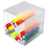 Deflecto Stackable Cube Organizer, Divisores Cruzados,