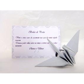 30 Lembrancinhas Bodas De Prata Em Origami - Tsuru Com Imã