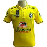 Camisa Brasil Brasileira Treino Camiseta Polo Masculino 2018