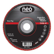 Disco Flap Oxido Aluminio 180 Mm Neo Grano 80 Metal Madera