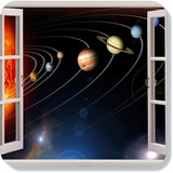 Adesivo Decorativo Janela Sistema Solar Planetas