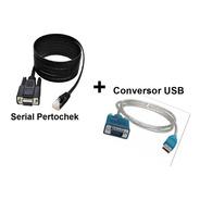 Cabo Impressora Pertochek + Conversor Usb + Cd Com Software