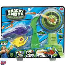 Lanza Monstruo Whacky Shots Action Pack Original