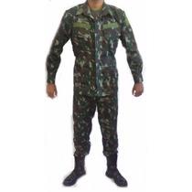 Farda Camuflada Exército Brasileiro Rip Stop E Lisa