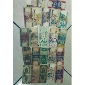 Notas Antigas Lote Com 22 Dinheiro Antigo C4-16