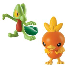 Boneco Pokémon Treecko Vs. Torchic Tomy Original