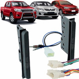 Moldura 2 Din Hilux Corolla Etios+plug Chicote+ Adapt Antena