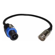 Cable Adaptador Speakon Macho A  Canon Xlr Macho Reforzado