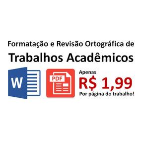 Formatação Abnt E Revisão Ortográfica De Trabalhos