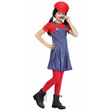 Fantasia Infantil Feminina Pretty Plumber Mario Fun World