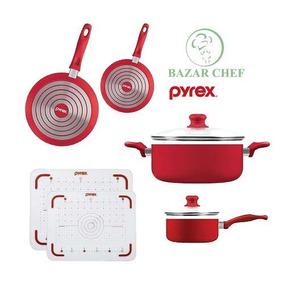 Bateria Cacerola Sarten Tabla Para Picar Pyrex - Bazar Chef