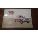 Fiat 128 Europa Manual Usuario Año 1979 Usado