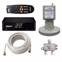 Kit Multiponto Receptor Parabolica+lnbf+divisor+cabo Coaxial