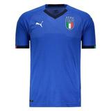 Camiseta Itália Lançamento Azul Desconto Imperdível