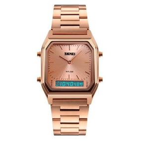 Relógio Feminino Skmei 1220 Anadigi Rosa Com Nf