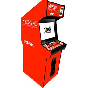Arte Fliperama Vinil Adesivo Completo Neo Geo