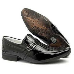 Sapato Masculino Social Couro Verniz Marca Alcalay Luxo