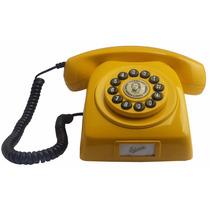Telefone Antigo Dlg Digital Amarelo Funciona Na Linha Net