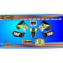 Kit Calcos Suzuki Rm 125 96/98 Laminado 3m Grueso Satinado