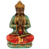 Buda Gigante De Los Más Grandes! Pintado A Mano Decoracion