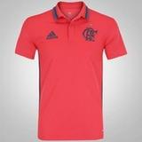 Camisa Polo Flamengo Laranja adidas 2016 Comissão Técinica