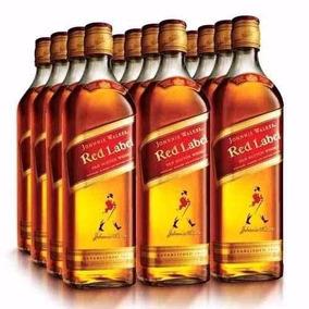 Caixa Com 12 Whisky Johnnie Walker Red Label 1 L Com Dosador