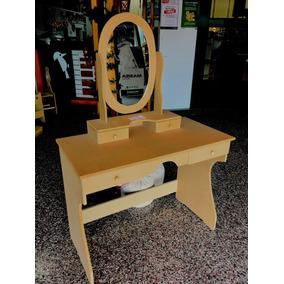 Tocador Dresuar Infantil Con Espejo Oval