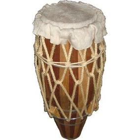 Atabaque Capoeira Profissional 100 Cms Afinação Com Cordas C