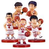 Slam Dunk - Set De 5 Figuras 6cm Sakuragi Rukawa Mitsui
