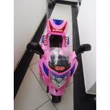 Moto Rosada Para Niña Bateria Recargable En Excelente Estado