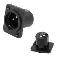 Conector Canon Painel Macho Mxt Plastico 2 Unidades