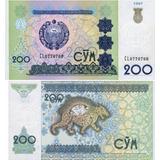 Billete Uzbekistan 200 Sum Unc