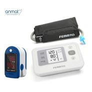 Kit Tensiometro Digital Y Oximetro Dedo Saturometro Femmto