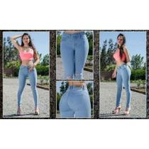 Jeans Slim Modelos Colombianos De 1 Boton Levanta Cola