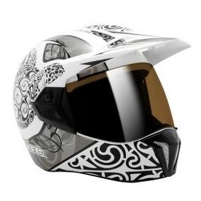 Capacete Moto 56 S Bieffe 3 Sport Maori Branco Lançamento