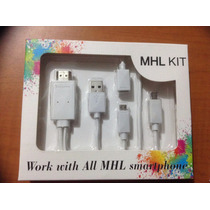 Cable Adaptador Mhl Hdtv Hdmi Samsung Htc Lg Sony Asus Zte