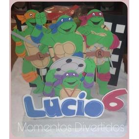Tortugas Ninja Adorno Para Torta Infantil En Goma Eva