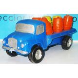 Juguete Antiguo De Plastico Inflado Camion Con Barriles Man
