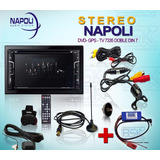Stereo Dvd Napoli 7335v Doble Din Gps Bt Tv Mas Interface