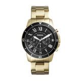 Relógio Masculino Fossil Fs5267/4pn Pulseira Aço Dourada