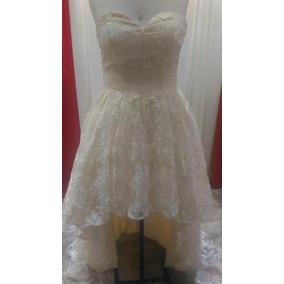 Vestido De Noiva Ou Debutante Champanhe Assimétrico 40-44