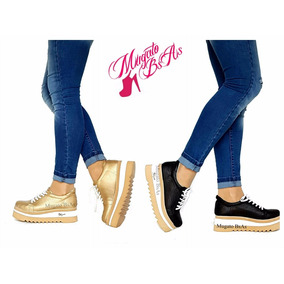Zapatillas Con Plataforma Sneakers Nueva Temporada Goma Eva